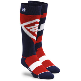 100% Torque Comfort Moto Socks red